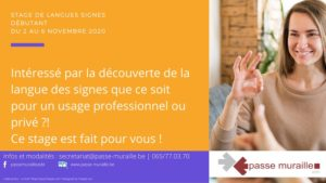 Stage langue des signes Toussaint 2020